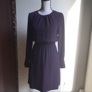 Purple Midi Long Sleeve Career Dress By H&M
